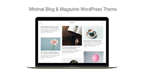 Maxima - Minimal Blog & Magazine WordPress Theme - ThemeKeeper.com