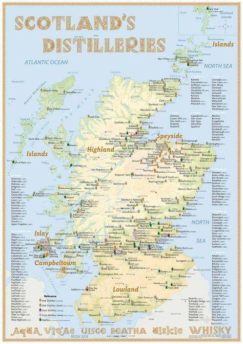 Whisky Distilleries Scotland Poster 42x60cm Standard Edition