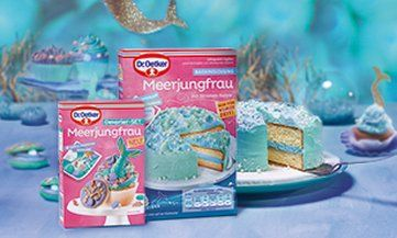 Kleine Meerjungfrauen Torte Rezept Meerjungfrau Kuchen Backmischungen Oetker