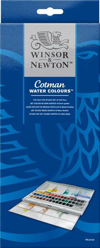 Winsor Newton Cotman Studio Aquarelset 45 Halve Napjes Heldere
