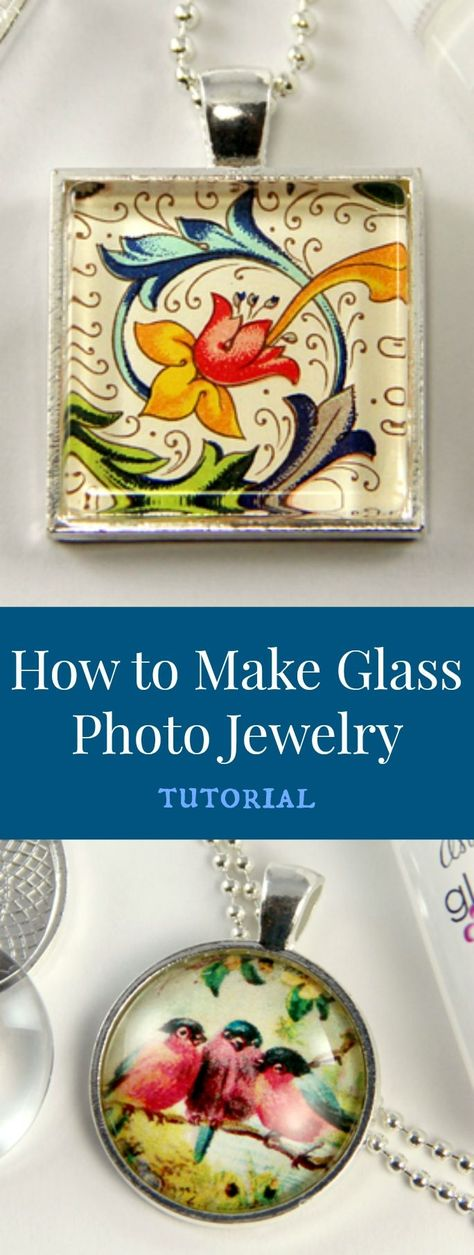 Love this tutorial to make your own glass photo jewelry.