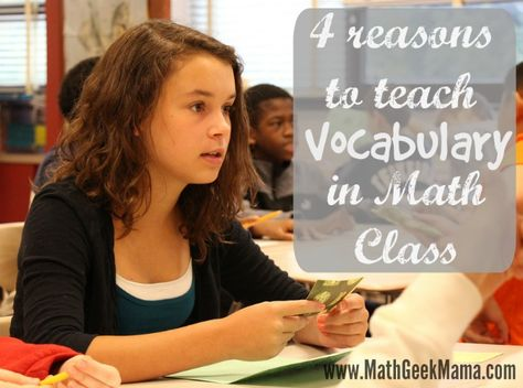 4 Reasons Teaching Math Vocabulary is Important