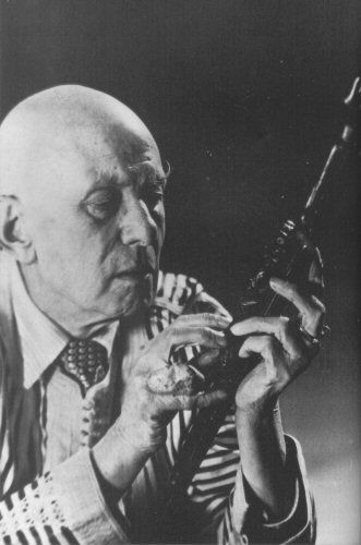 Aleister Crowley occultist  portrait