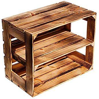3er Set Gebrauchte Holzkisten im Set Angebot: Originale Vintage Obstkisten zum M/öbelbau od sehr stabile Apfelkisten gepr/üft und gereinigt 50x40x30 cm als Dekoration