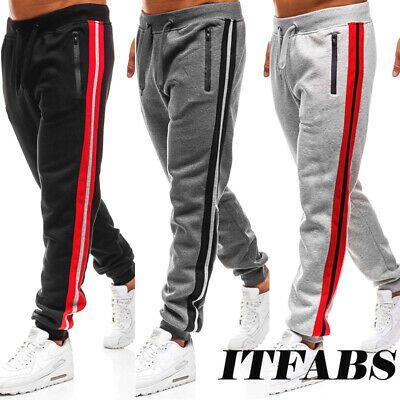Men/'s Slim Fit Tracksuit Bottoms Skinny Joggers Sweat Pants Jogging Gym Trousers