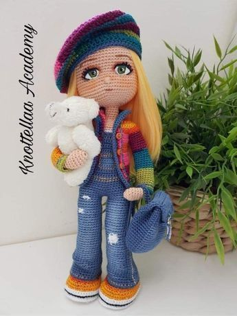 How to crochet an animal / doll top and shorts - Wooly Wonders ... | 460x345