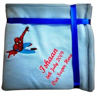 Spiderman Personalized Kids Blanket