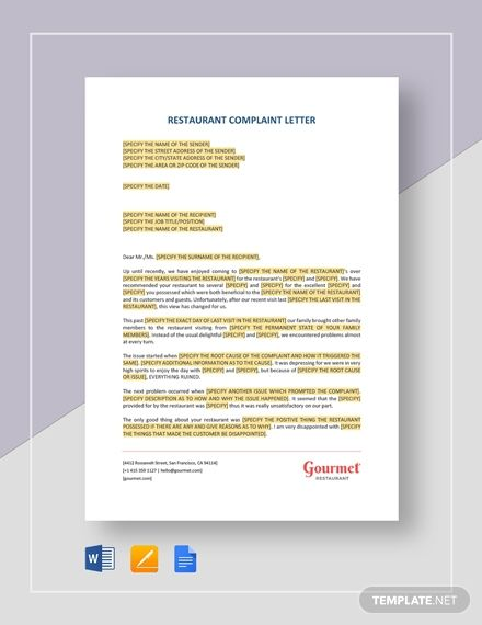 Free Complaint Letter Against An Employee Misconduct Free