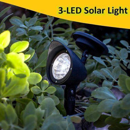 New Upgraded Solar Garden Lights 3 Led Solar Powered Led Spotlight Outdoor Garden Landscape Lawn Yar In 2020 Solar Lights Garden Solar Lights Walkway Garden Spotlights