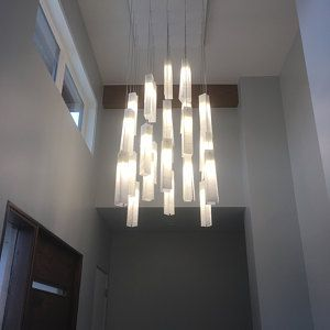 Contemporary Light Fixture For Living Room Large Entrance Chandelier Lighting Modern Light Fixture For High Ceiling Or Large Space In 2020 Staircase Chandelier Ceiling Lights Stained Glass Lighting