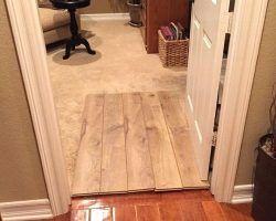 Different Color Hardwood Floors In Adjacent Rooms Upstairs Downstairs Hardwood Floors Flooring Hardwood