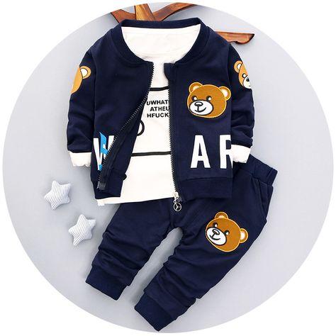 10d841ee1208 2017 spring autumn infantil long sleeve t shirt+coat+pants 3pcs baby ...