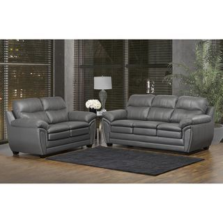 Shop Beautiful Living Room Styles Overstock Com Sofa And Loveseat Set Top Grain Leather Sofa Leather Sofa And Loveseat