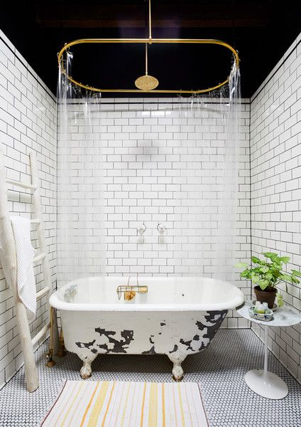 Bath Time - Designer Chris Benz's Colorful Brooklyn Brownstone - Photos