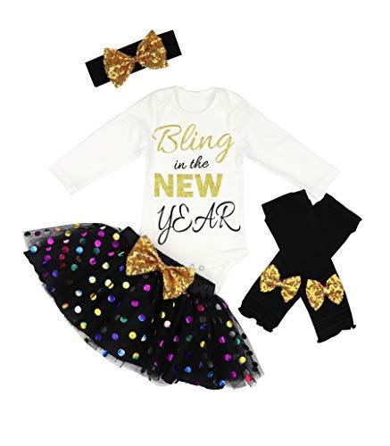 First Valentines Day Short Sleeve Romper+Bling Dots Skirt+Headband+Leggings 4Pcs Outfits Toddler Newborn Baby Girls Clothes