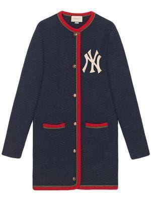 Cardigan Com Patch Ny Yankees Quần Ao Thời Trang Thời Trang Nữ