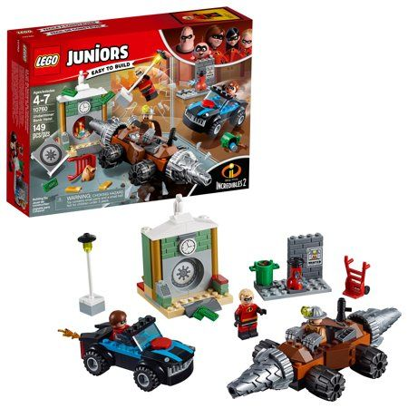 Lego Juniors Incredibles 2 Underminer Bank Heist 10760 149 Pieces Walmart Com In 2020 Lego Juniors The Incredibles Lego
