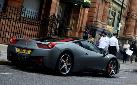 Ferrari 458 Matte Black - wallpaper.   Феррари 458 ...