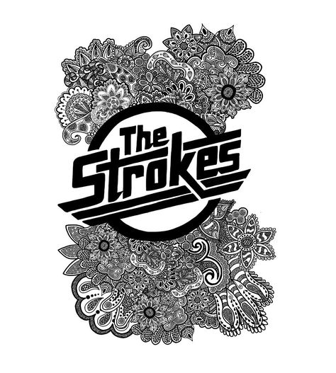 "The Strokes Zentangle Logo"" by Artdanicabrera | Redbubble"