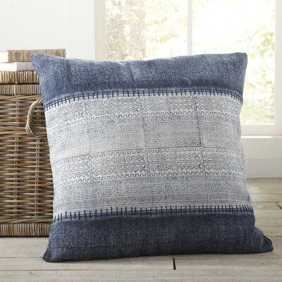 Friedman Cotton Indoor Geometric Square Throw Pillow Size 30 X 30 Fill Material Pillow Cover Only In 2020 Large Throw Pillows Throw Pillows Blue Throw Pillows