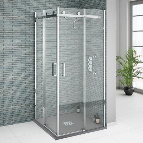 Nova Square Frameless Corner Entry Shower Enclosure 800 X 800mm Victorian Plumbing Co Uk Shower Enclosure Corner Shower Enclosures Square Shower Enclosures