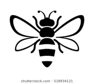 Graphic Illustration Of Silhouette Honey Bee Isolated On