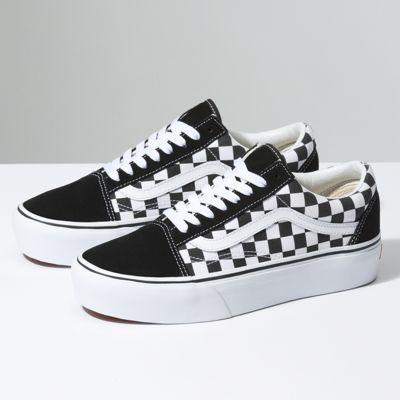 B3uhrk Checkerboard Old Skool Platform Classic Shoes Vans Checkerboard Platform Vans