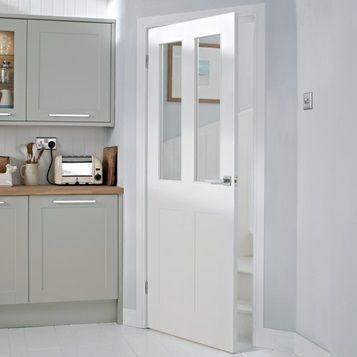 Enhance The Space And Light In Your Home With The Large Glass Panes Of Our Glazed Fo White Internal Doors Internal Cottage Doors Internal Glass Doors