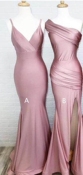 Dusty Rose Mismatched Simple Mermiad Bridesmaid Dresses Ab4051 Julia Home Altrosa Brautjungfernkleider Kleid Altrosa Brautjungfernkleid