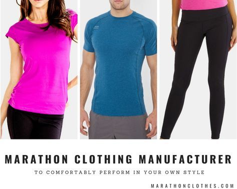 Marathon Clothes offered custom running clothes with