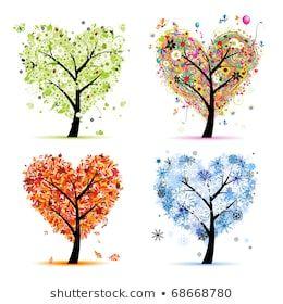 Vector De Stock Libre De Regalias Sobre Cuatro Temporadas Primavera Verano Otono Invierno 639989 Produccion Artistica Imagenes De Primavera Arte De Otono