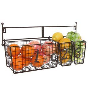 100 Small Kitchen Ideas To Hack Your Pantry Wire Mesh Storage Baskets Wall Basket Storage