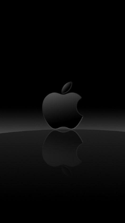 Black Apple Logo Apple Logo Wallpaper Iphone Apple Wallpaper
