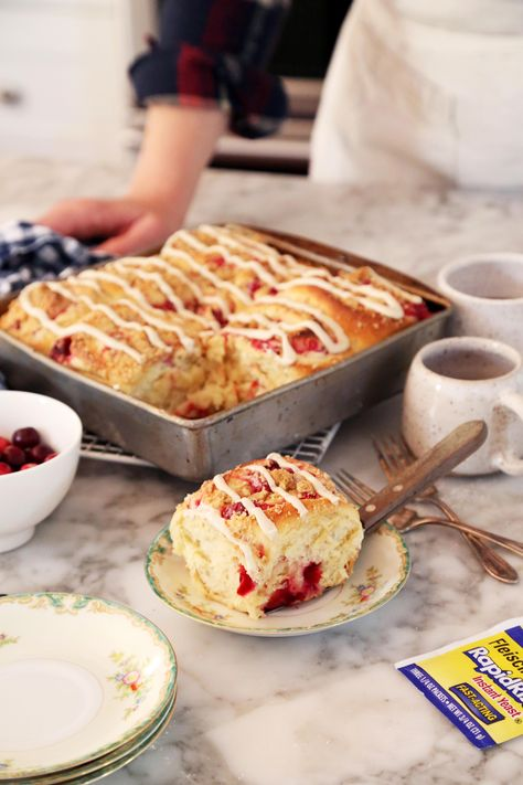 Joy the Baker makes easy cranberry cream cheese breakfast rolls with @BeABetterBaker.