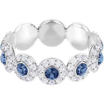 Anillo Angelic Verde Azulado Bano De Rodio Swarovski 5424993 Crystal Rings Handmade Gold Jewellery Jewelry