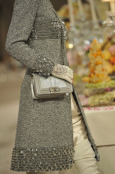 A detail of a model is seen as she walks the runway during the Chanel Paris-Bombay Show at Grand Palais on December 2011 in Paris, France.