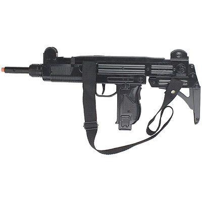 UZI SUB MACHINE GUN Super Toy Cap Gun Revolver 8 Shot Ring Caps Kids Handgun