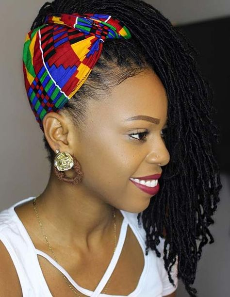 High Accessorized Sisterlocks Ponytail