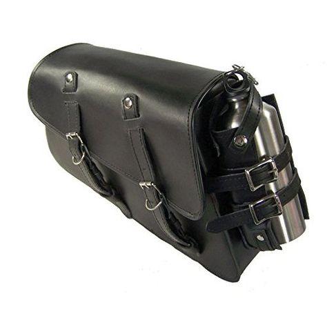 04 UP Black Leather La Rosa HD Seventy Two 48 883 Left Saddlebag w// Gas Bottle