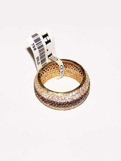دبل زفاف ذهب عيار 18 دبلة زفاف عريضة عيار 18 مرصعة بالفصوص البيضاء والبنى خصم 10 على المصنعية Wedding Couple Rings Silver Wedding Rings Engagement Rings