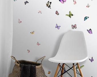 Curious Fish Large Scale Black Peel N Stick Or Etsy Prepasted Wallpaper Custom Color Wallcovering Pattern
