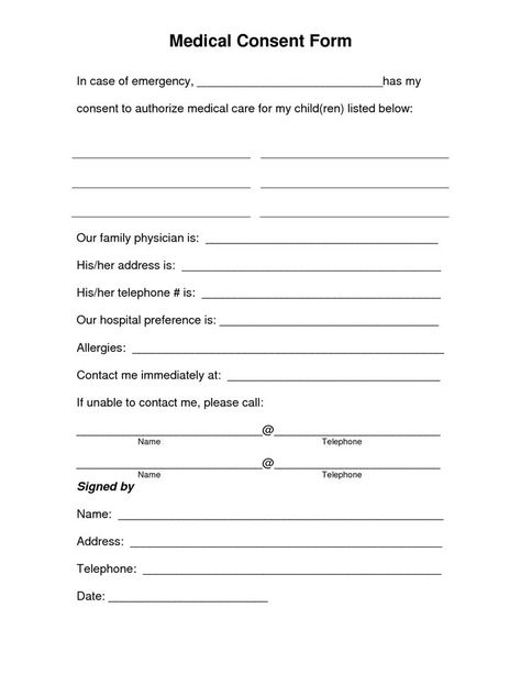 Printable Medical Release Form For Children Impressive 4 Free Printable Forms For Single Parents  Free Printable Parents .