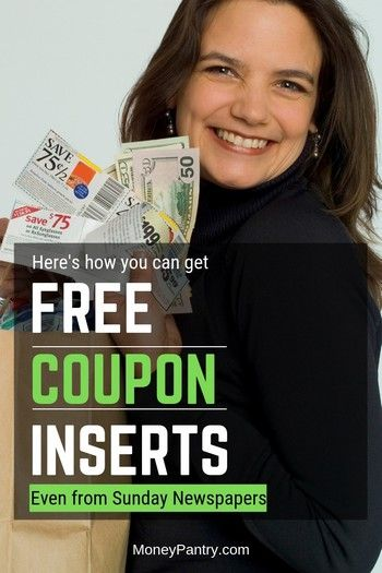 17 Ways To Get Coupon Inserts For Free Even Sunday Newspaper Coupons Sunday Newspaper Coupons Coupon Inserts Newspaper Coupon