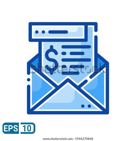 Envelope Money Icon Filled Line Style Stock Vector (Royalty Free) 1944270868