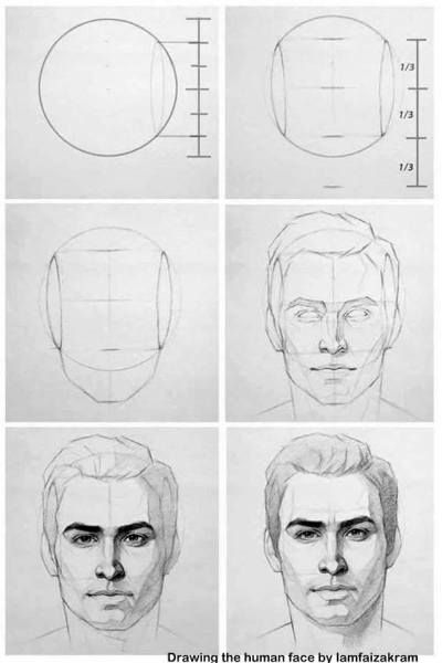 how to draw face | Pencil Shades