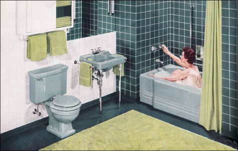 Green 1950 S Bathrooms On Pinterest Vintage Tile Green