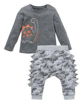 Baby Boys Dinosaur Print Top and Jogpant Set