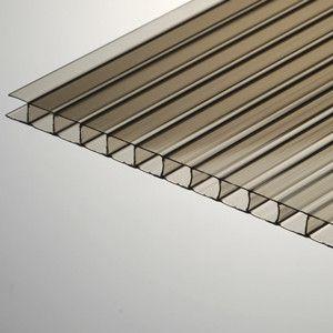 6mm X 48 X 96 Bronze Twinwall Polycarbonate Sheet At Eplastics Polycarbonate Bronze Greenhouse Construction