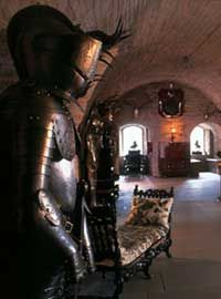 """GLAMIS CASTLE, SCOTLAND - SIMPLY CHARMIN' TALE: """"the Crypt where, in the 15th century, the servants would eat and sleep. This room is also thought to contain the 'secret chamber' where, according to the legend, an ancestor and his friend lost their souls to the Devil for playing cards on the Sabbath"""""""