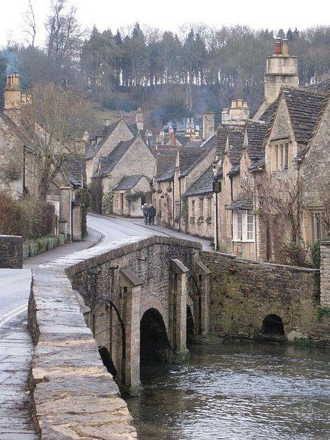 The beautiful streets of Castle Combe , Bath, United Kingdom